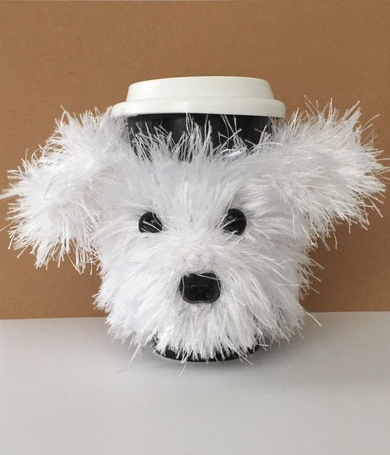 Crafts For Dog Lovers: Bichon Dog Cup Cozy, Bichon Lover Gift