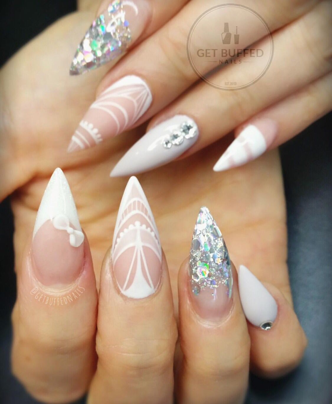 By get buffed nails | Ascesorios de uñas. | Pinterest | Goth nails ...