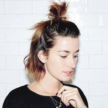 Half Up Half Down Bun Messy Hairstyles Hair Styles Short Hair Styles