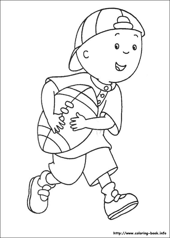 caillou coloring picture  cartoon coloring pages