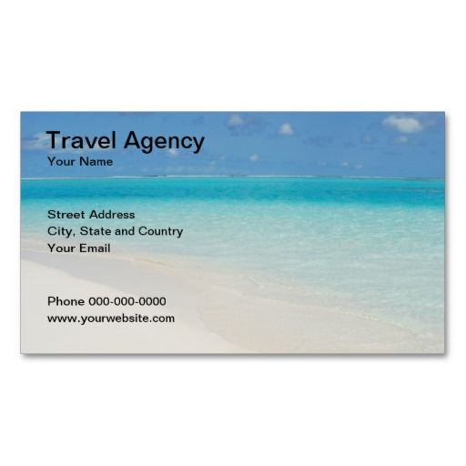 Travel agency business card business cards and card templates travel agency business card this great business card design is available for customization all reheart Images