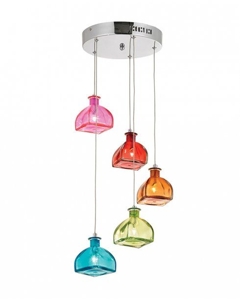 The Endon Sarandon 5 Light Ceiling Pendant Has A Quirky Style With A  Polished Chrome Finish And Each Light Has Itu0027s Own Coloured Shade. Idea