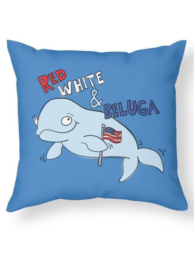 Red White And Beluga - Patriotic Whale