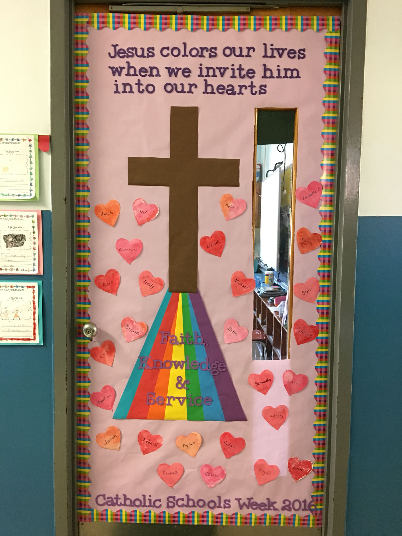 Mrs B Amp Mrs S S Catholic Schools Week Bulletin Door