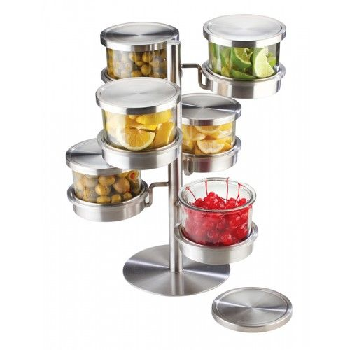 6 Tier Revolving Mixology Display: Keep your condiments
