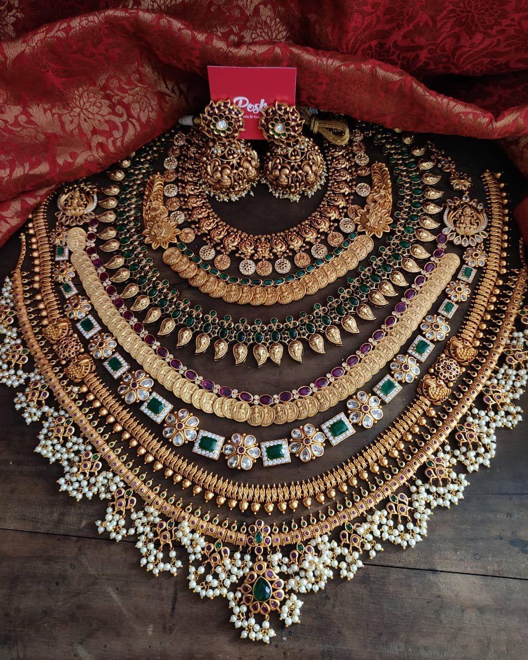 Kerala Style Bridal Jewellery Set ~ South India Je