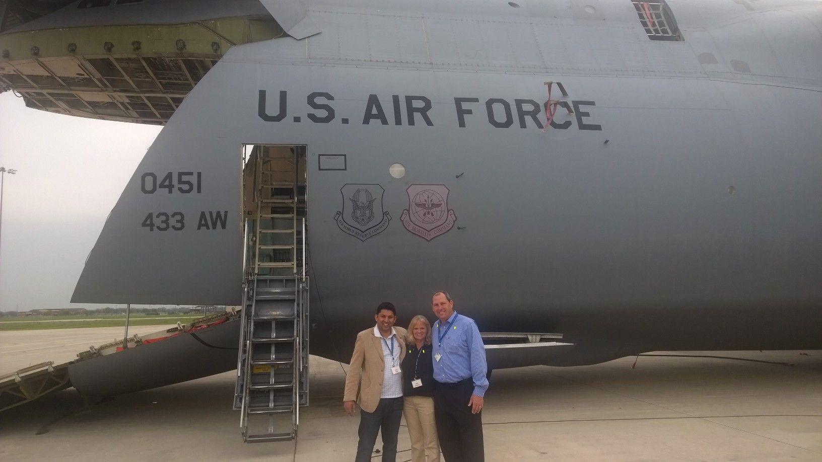 Having fun at MacDill Air Force Base with Civic Leaders of