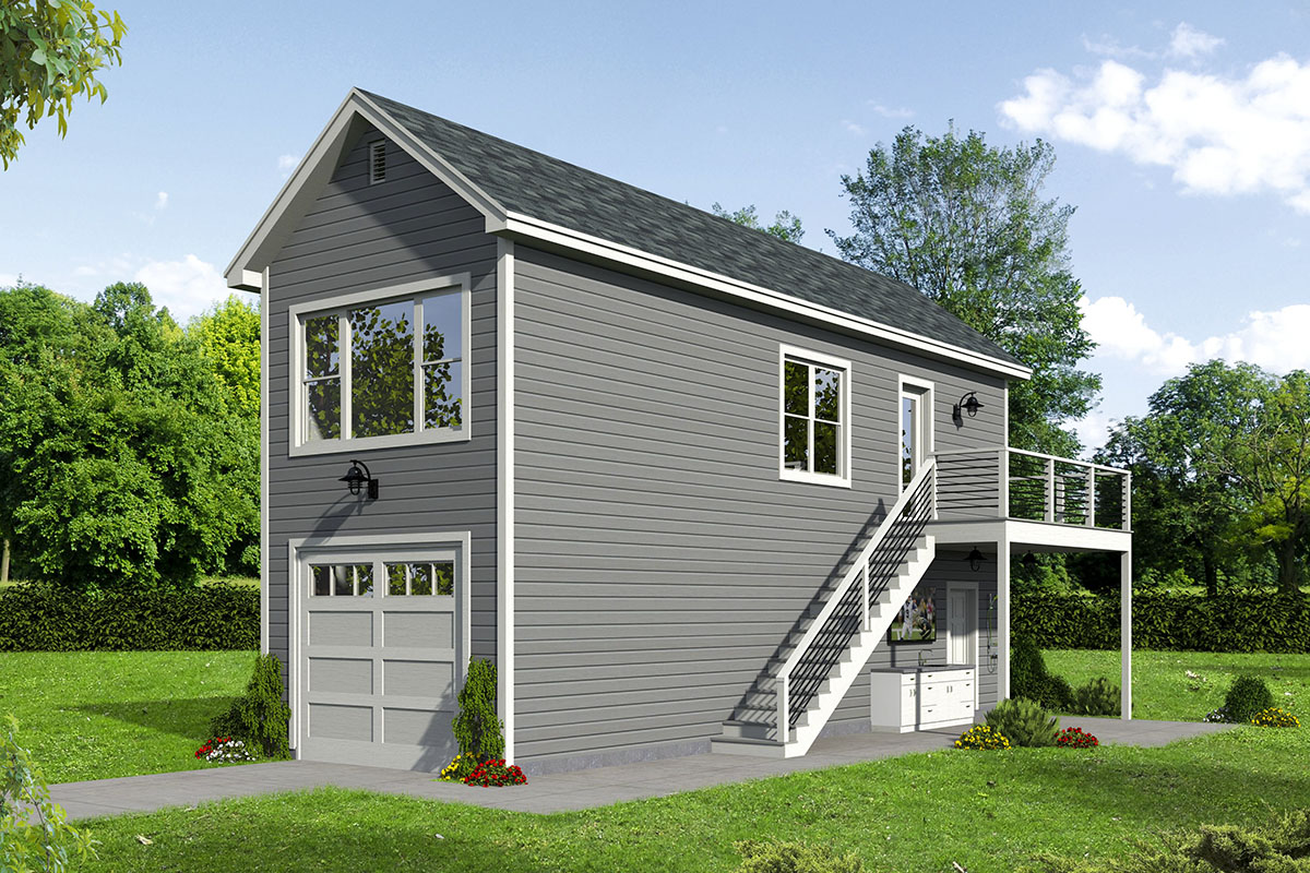 Plan 68610vr Narrow Garage Plan With Upstairs Apartment Carriage House Plans Garage Apartment Plan Apartment Plans
