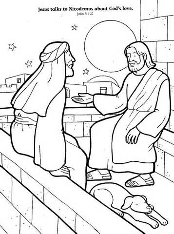 nicodemus Colouring Pages | Bible coloring pages, Sunday ...