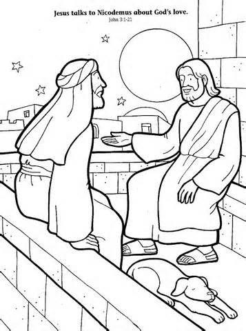 John Jesus Met Nicodemus Coloring Page