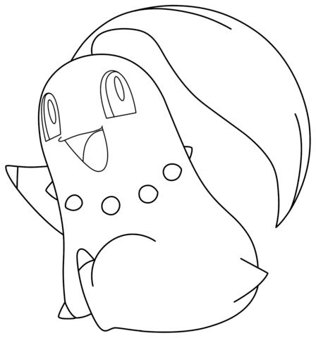 Click to see printable version of Chikorita Pokemon Coloring page ...
