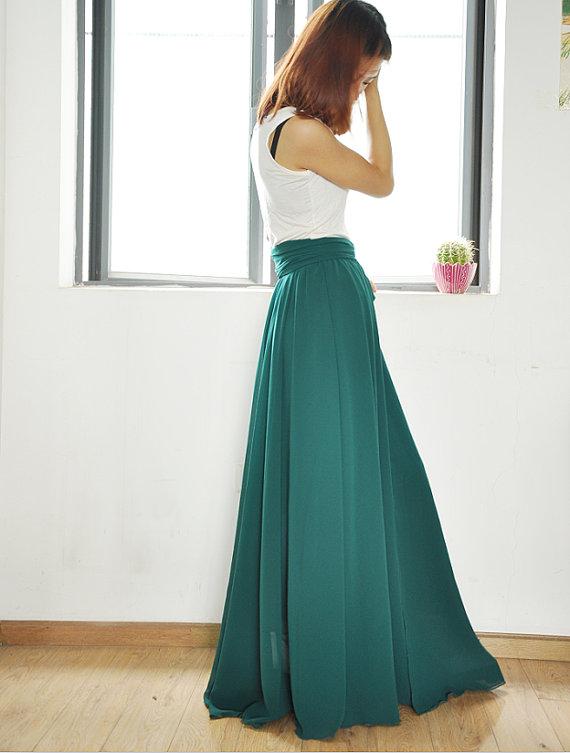 Rok maxi chiffon dresses