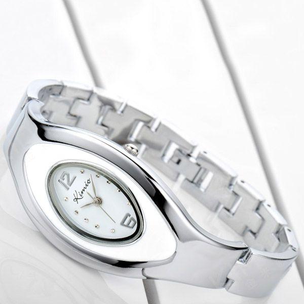 Oval Dial Kimio Ladies Bracelet Wrist Watch
