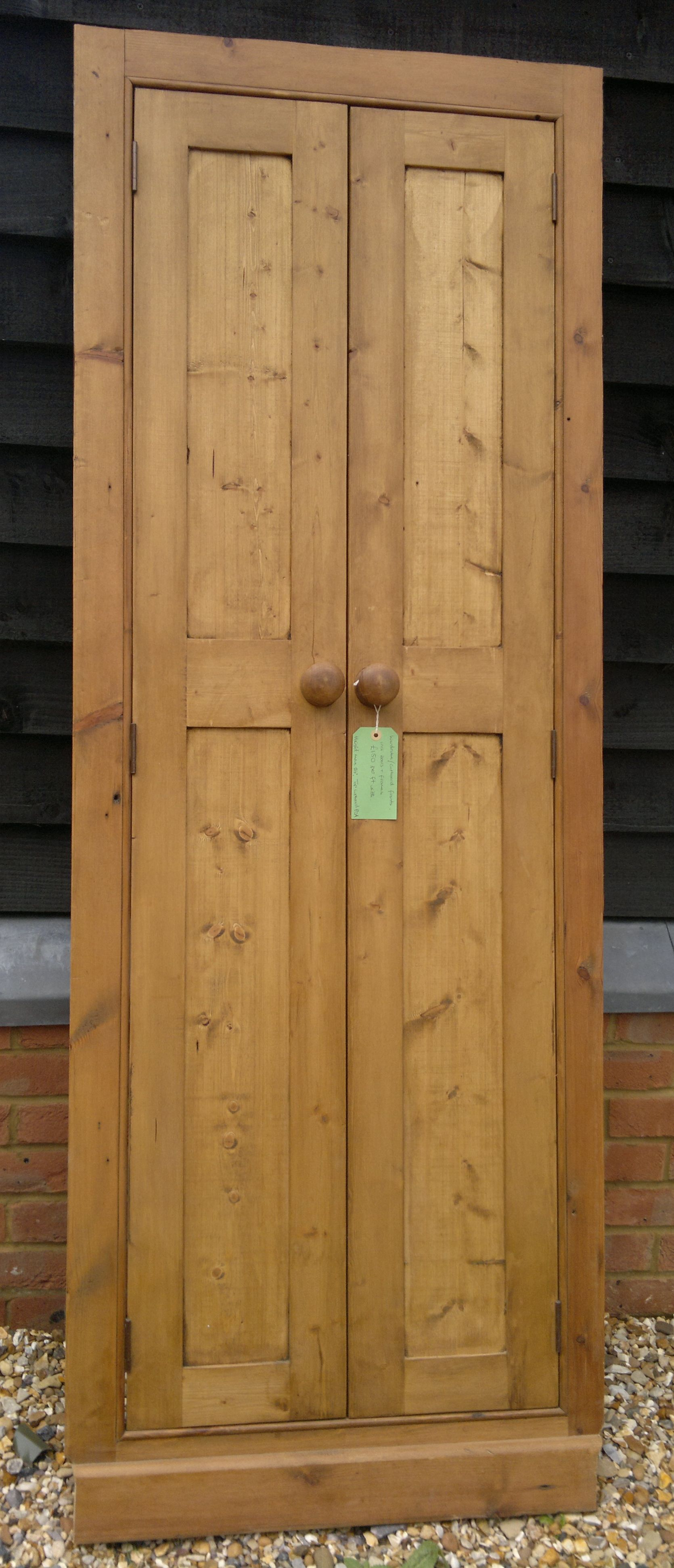 Reclaimed pine fitted wardrobe/cupboard doors built made to ...