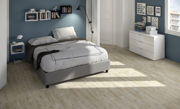 cheap for discount various styles innovative design Carrelage effet parquet en blanc par Horizon | Carrelage ...