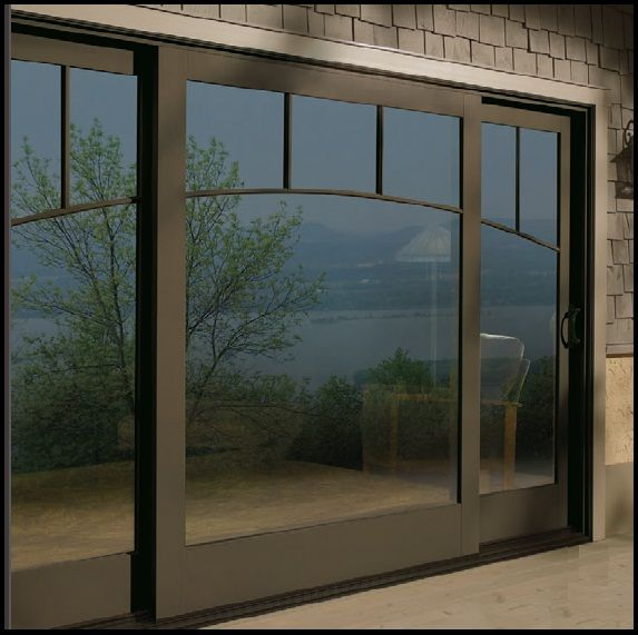Example of a 3 panel center fixed andersen gliding patio for Center sliding patio doors