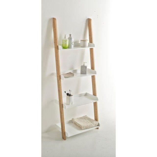 Badkamer etagère in laddervorm, 4 legplanken, lindus wit La Redoute ...