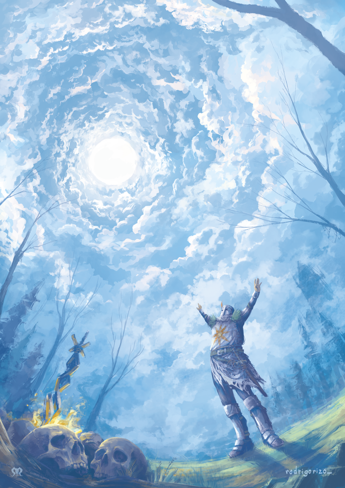 Praise The Sun Dark Souls Art Print By Rodrigorizo X Small Dark Souls Art Dark Souls Solaire Dark Fantasy Art