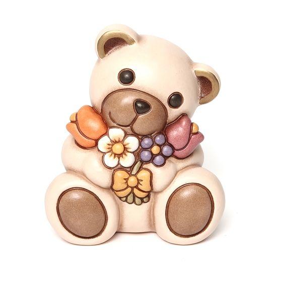 Fiori Thun.Teddy Con Mazzo Di Fiori Thun Thun Animali In Ceramica