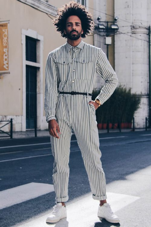 Lovely Couple Clothes Male Streetwear Overalls Jumpsuit Harem Trousers Men High Street Hip Hop Casual Long Sleeve Jumpsuit Cargo Pant Cargo Pants