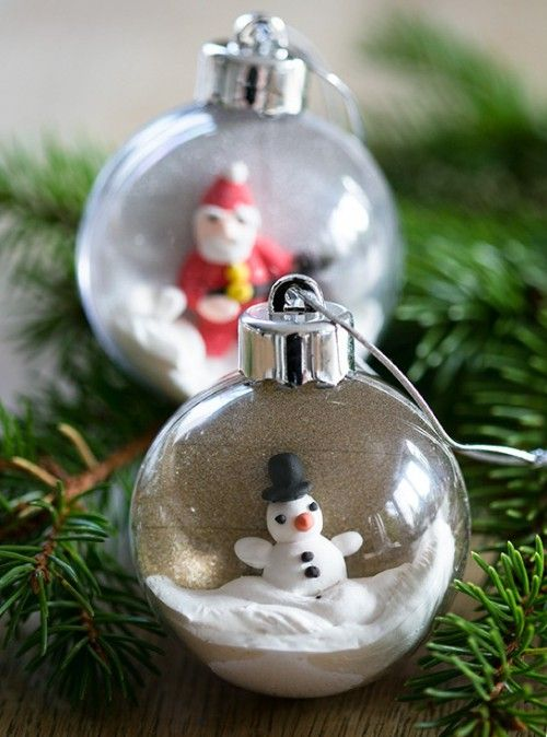 DIY Christmas Ornaments Of Plastic Baubles Shelterness Christmas - christmas decorations diy