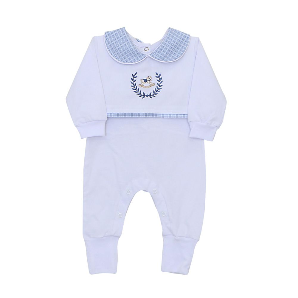 Macacão para BebêCavalinho de Pau Azul - Biramar - Baby Enxoval - BabyEnxoval