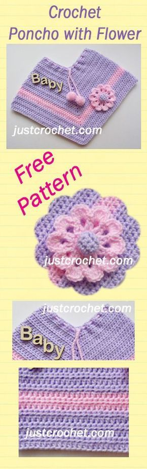 Free baby crochet pattern for poncho. #crochet | Crochet LOVE ...