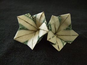 Money Origami Flower | Use money origami (dollar bill origami) to transform your dollar bills ...