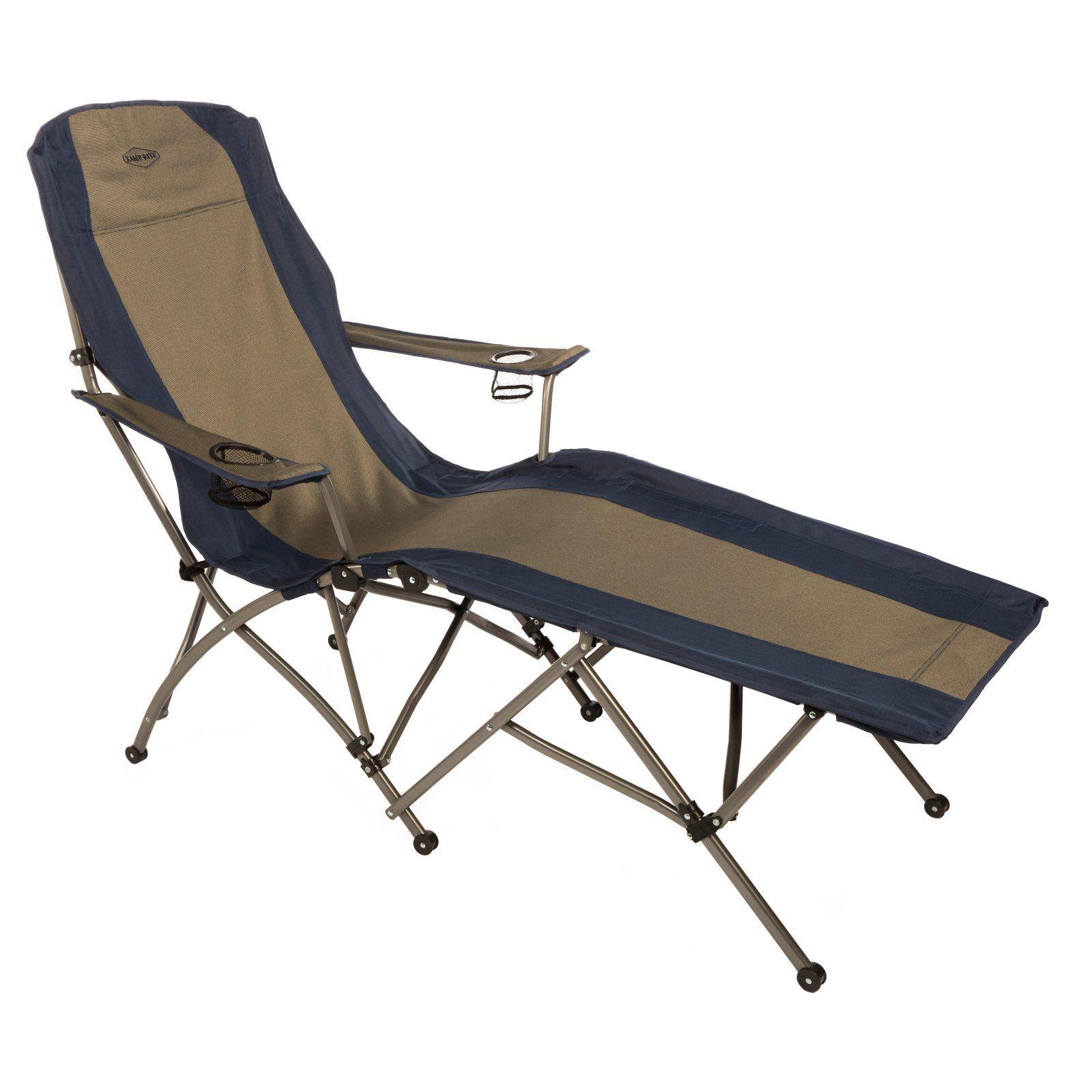 Outdoor Kamp Rite Soft Arm Folding Chaise Lounge Chair Folding