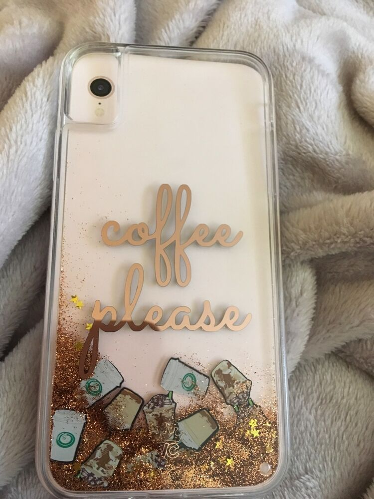 best website d90a7 d2f0f Velvet Caviar IPhone XR Case Coffee Please Glitter Case Currently ...