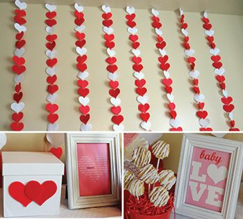 Charmant Birthday Party Ideas · Valentine Baby Shower Decorations