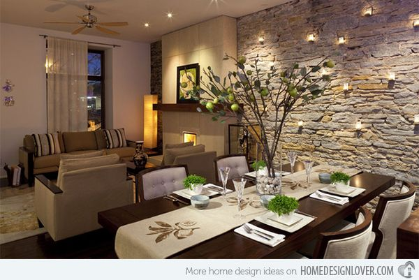 20 Dining Rooms With Brick Walls Home Design Lover Living Room Dining Room Combo Beautiful Dining Rooms Living Dining Room
