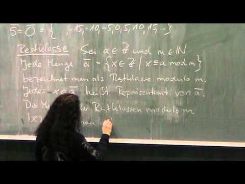 Definition Restklasse (Teil 2)