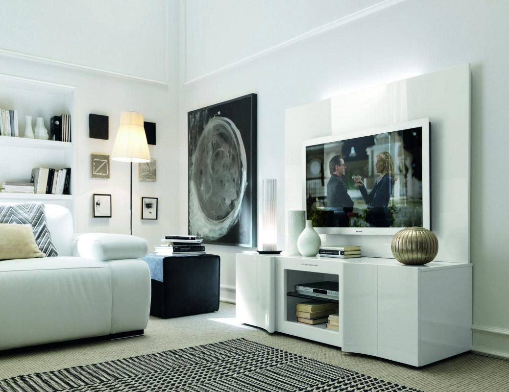Armonia Modern Italian White Entertainment Center - shoptorious ...