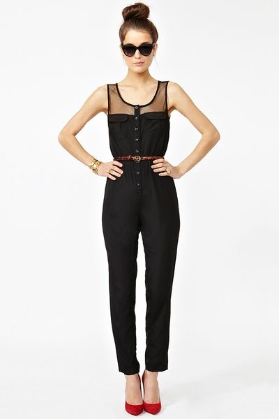 Nasty Gal Mad Mesh Jumpsuit - Lyst