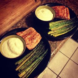 "jessimayhem: "" #dinner for two. #eatclean #clea """