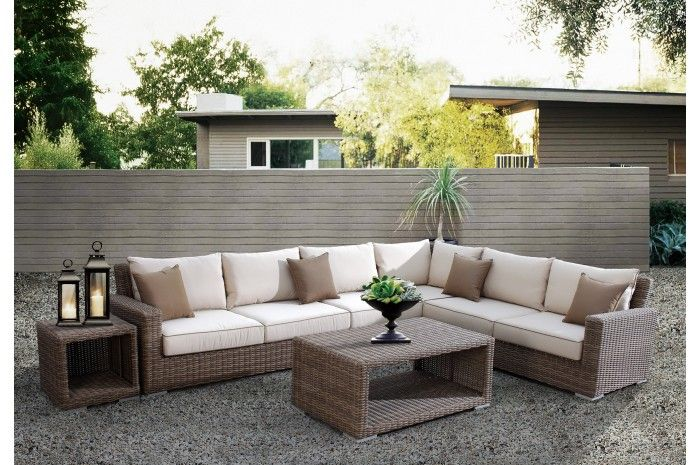 Coronado Sectional Sofa Outdoor - Sunset West Outdoor Furniture : patio furniture covers for sectional sofas - Sectionals, Sofas & Couches