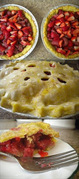 F/C: Cooking from Scratch strawberry rhubarb pie with orange crust.