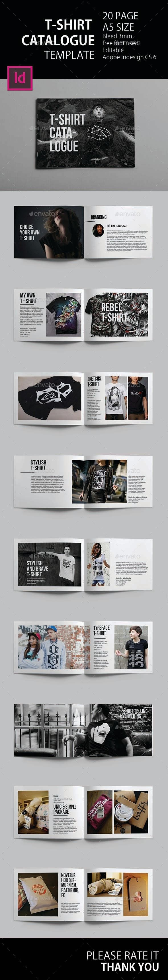 T-Shirt Catalogue Template | Template, Catalog and Adobe indesign