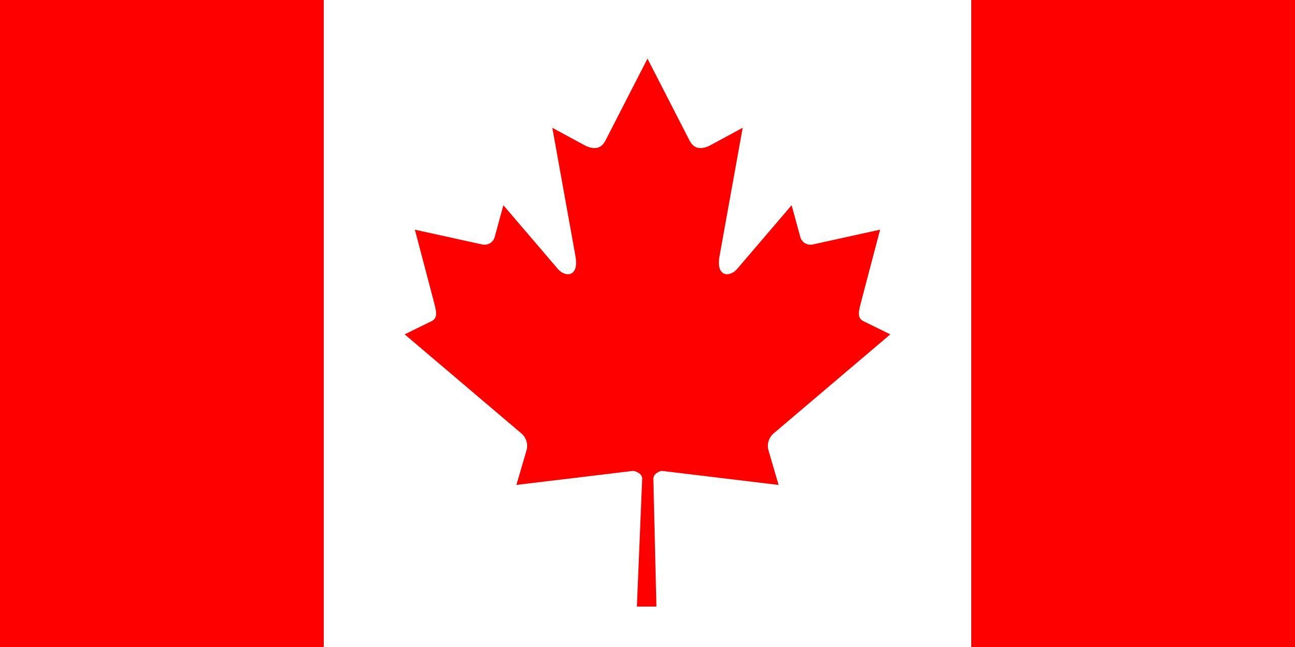 Bandera De Canada Es Una Bandera Roja Con Un Cuadrado Blanco En