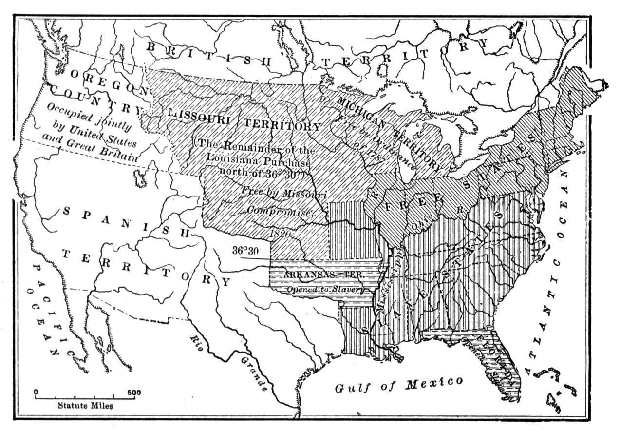 Missouri Compromise Map Leading Up To The Civil War Pinterest - Civil war blank map us history