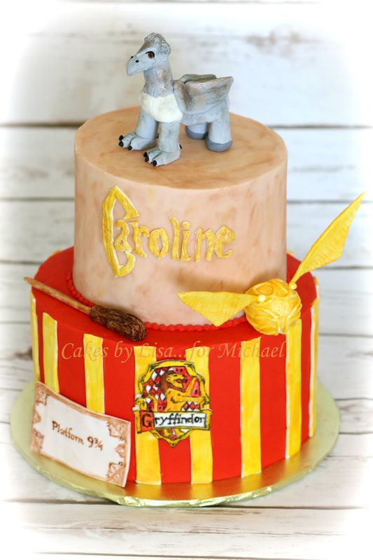 Harry Potter Cake With A Hippogriff Cakes By Lisar Michael