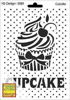 Schablone A5 Art Nr 2089 Cupcake Heike Schafer Schablonen Prageschablonen Mini