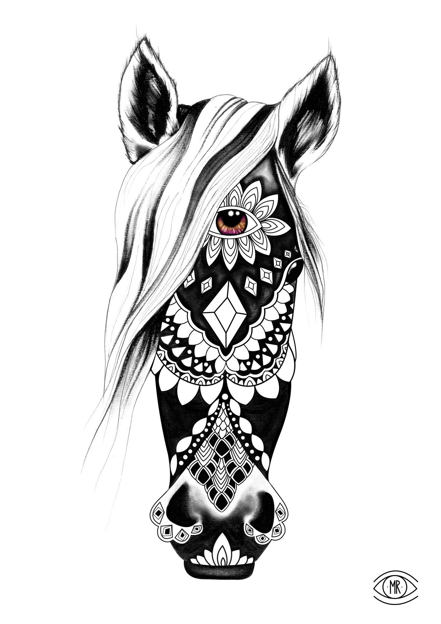 Sugar Skull Horse | Diamond Horse | Sugar Skull Animals | Pinterest ...
