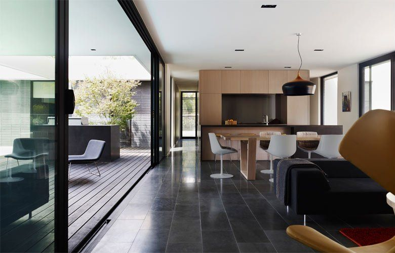 dining-kitchen-living modern contemporary house design