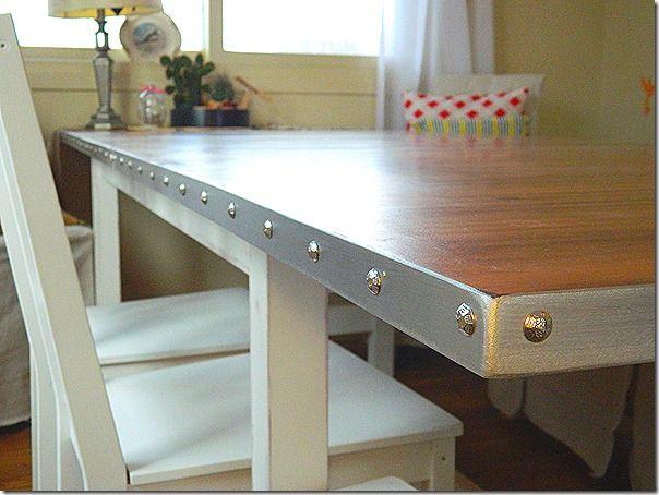 Hating Martha S Wood Grain And Metal Look Table Top