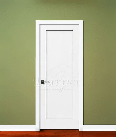 1 Panel Flat Door Madison From Jeld Wen Darpet Interior Doors For Chicago Builders Doors Interior House Trim Panel Doors
