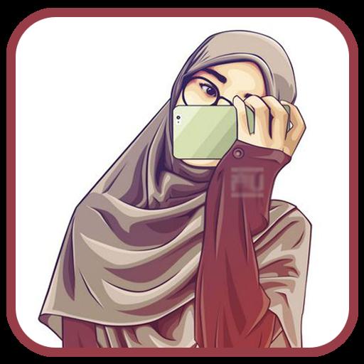 26 Gambar Kartun Sederhana Manusia Anime Hijab Wallpaper