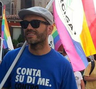 He was protesting against a cardinal who said he believed gay people didn't exist