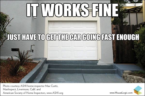 Funny Fail This Garage Driveway Works Just Fine Real Estate